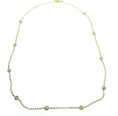 0.53 Carats t.w. Hand Assembled Diamond by The Yard Necklace Chain 14K Gold