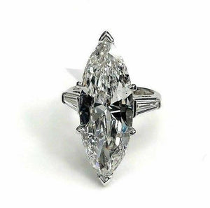 Out of this World 7.22ct AGS Certified F/SI2 Marquise Diamond Platinum Ring