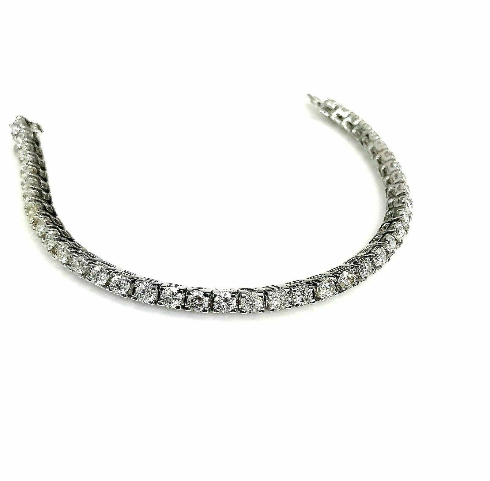 $19,950 Retail 7.24 Carats t.w. Diamond Tennis Bracelet 14K White Gold
