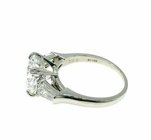 Original Harry Winston 4.10 Carats GIA D VVS1 Diamond Platinum Engagement Ring
