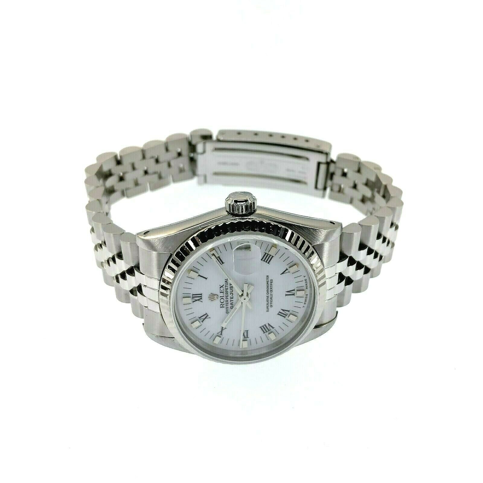 Rolex 31MM Lady's Jubilee Datejust Watch 18K White Gold/Stainless Ref # 68274