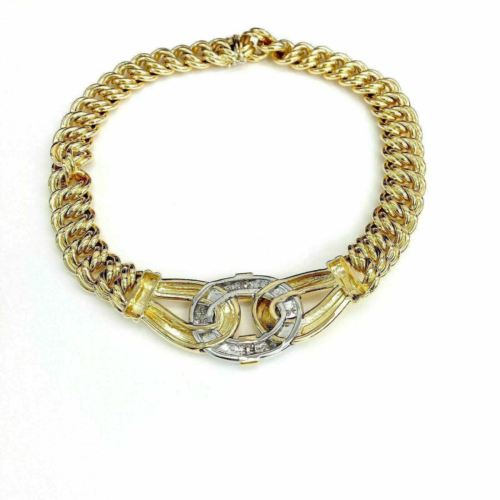 2.70 Carats t.w. F-G Color VS VVS Diamond Braided Necklace 18K Yellow Gold