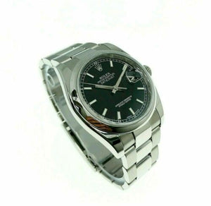 Rolex 36MM Datejust Watch Stainless Steel Ref # 116200 Oyster Band Roulette Date