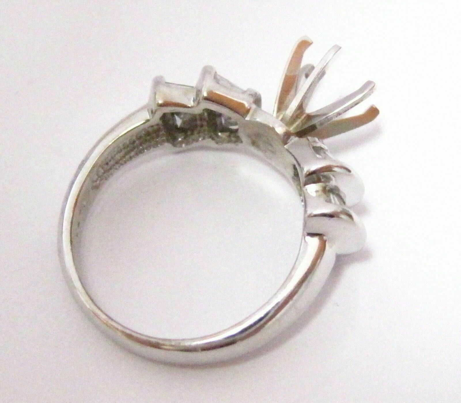 0.73 TCW 6 Prongs Semi-Mounting Round Diamond Bridal RIng 14k White Gold