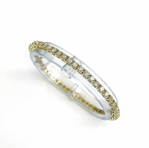 5.03 Carats t.w. Diamond Tennis Bracelet 14K Yellow Gold 50 Round Diamonds New