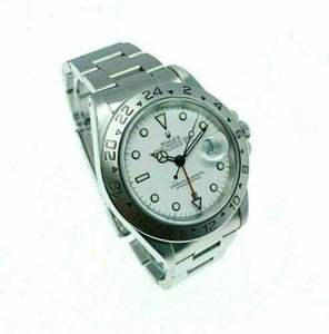 Rolex 40MM Polar Explorer II Stainless Watch Ref # 16570 A Serial 1999
