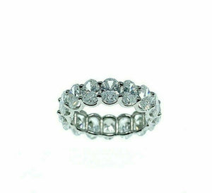 6.67 Carats t.w. Oval Diamond Eternity Ring Platinum .40Carat Each Custom Made