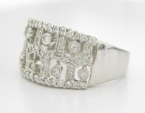 .60ct Round Brilliant Cut Art Deco Diamond Cocktail Ring Size 9.5 14k White Gold