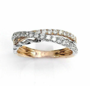0.49 Carat t.w. Diamond Stack/Anniversary Ring 18K Gold G VS Diamonds Brand New