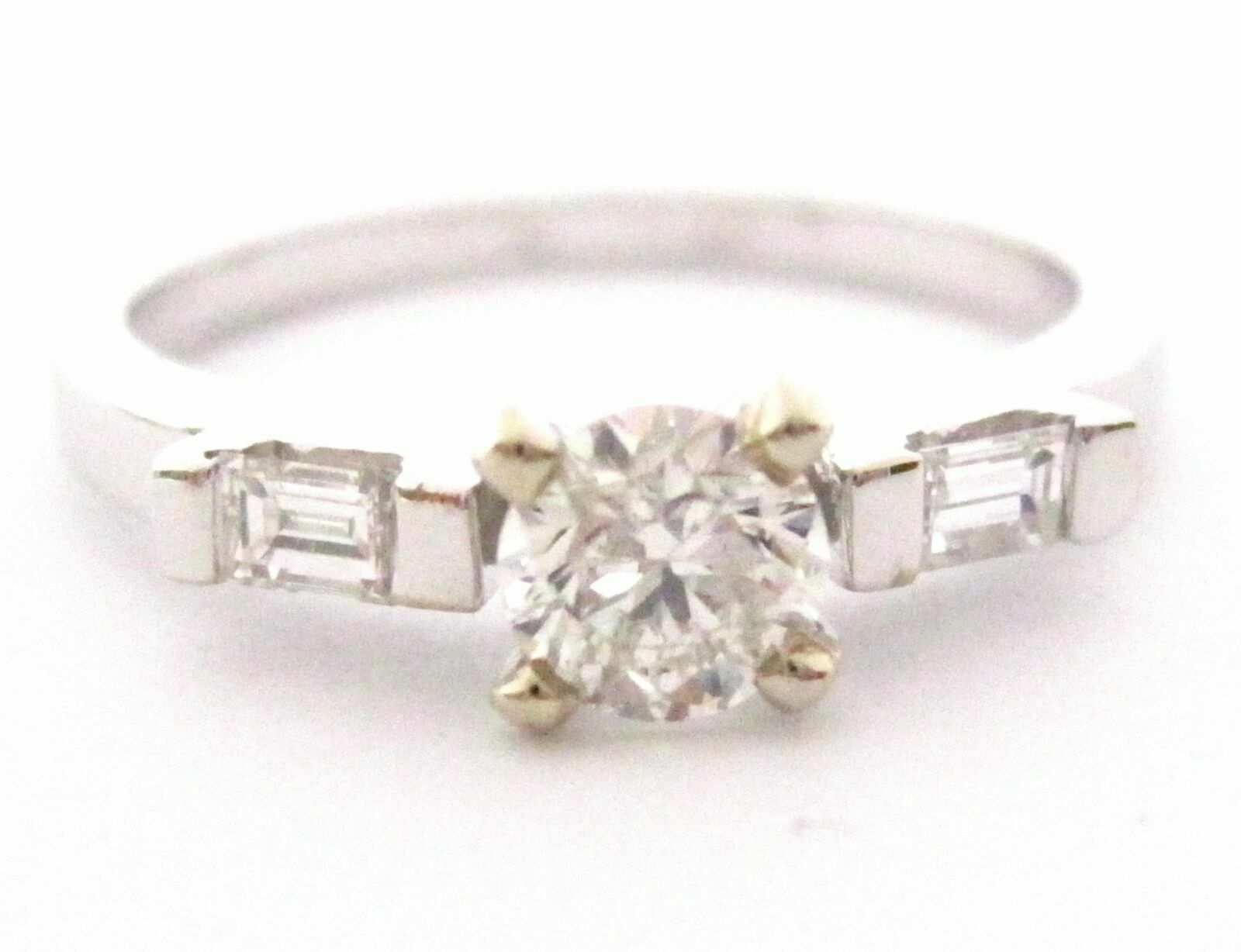 .70 TCW Round & Baguette Diamonds Engagement/Anniversary Ring Size 7 G VS2 14k