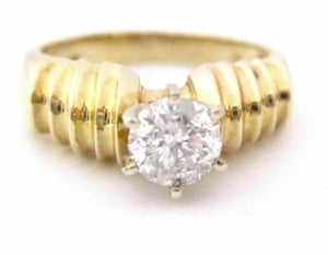 .71 Ct Round Brilliant Cut Diamond Solitaire Engagement Ring Size 6.5 G SI2 14k