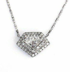 0.78 Carat t.w. Superman Diamond Pendant 0.58Carat Center 14K Gold w 14K Chain