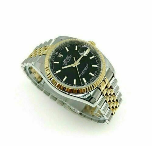 Rolex 36MM Datejust Watch 18K Yellow Gold Stainless Steel Ref 116233 V Serial