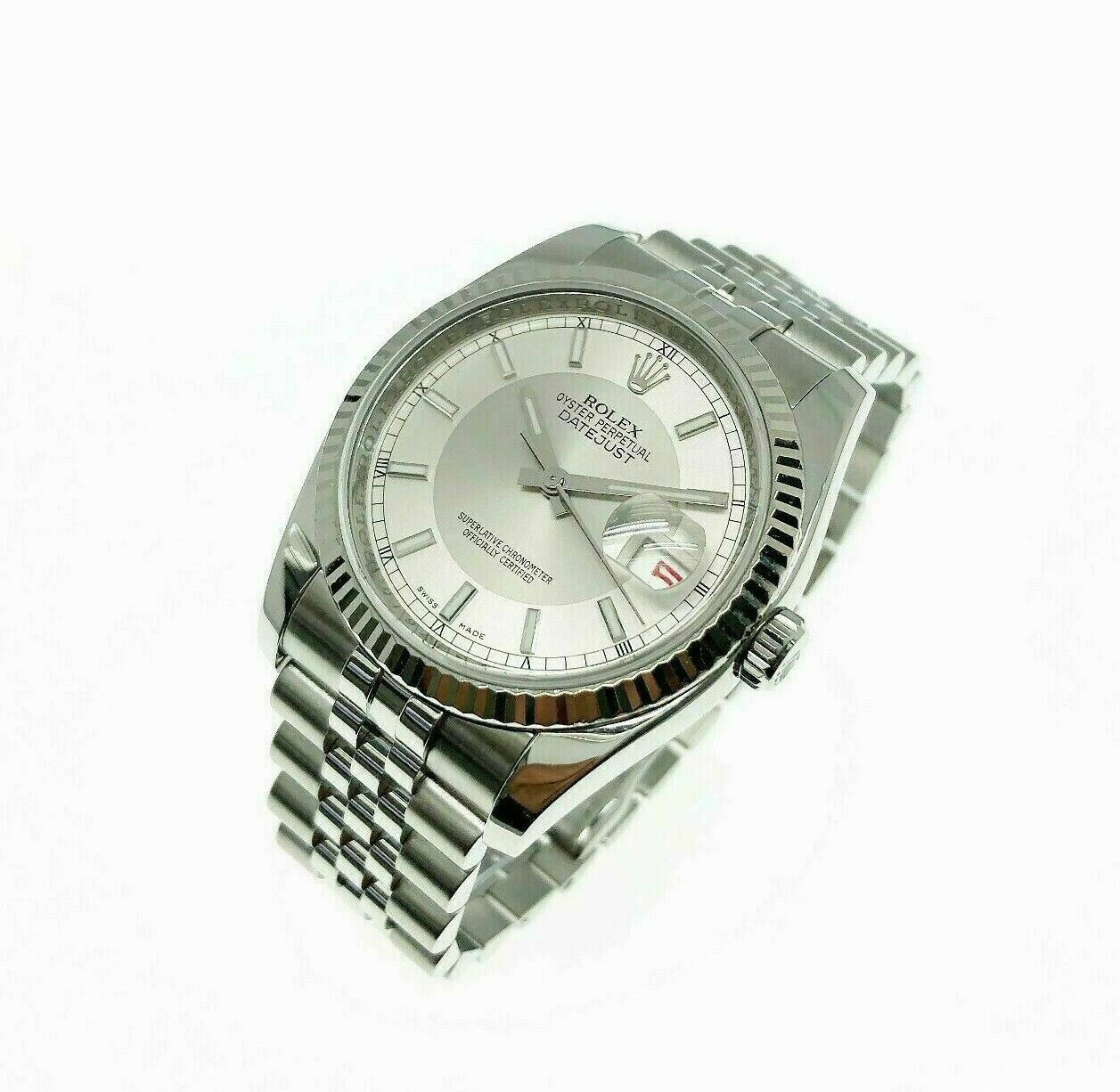 Rolex 36MM Datejust Watch 18K Gold/Stainless Steel Ref # 116234 Jubilee Band