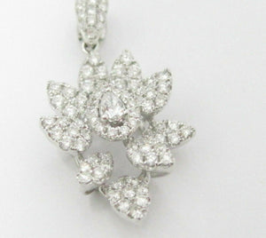 1.48 TCW Natural Round Brilliant and Marquise Diamond Pendant F-G VS2-1 18k