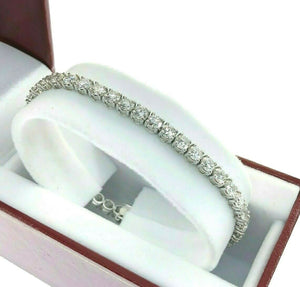 9.35 Carats t.w. Diamond Tennis Bracelet 14K White Gold G - H VS Round Diamonds