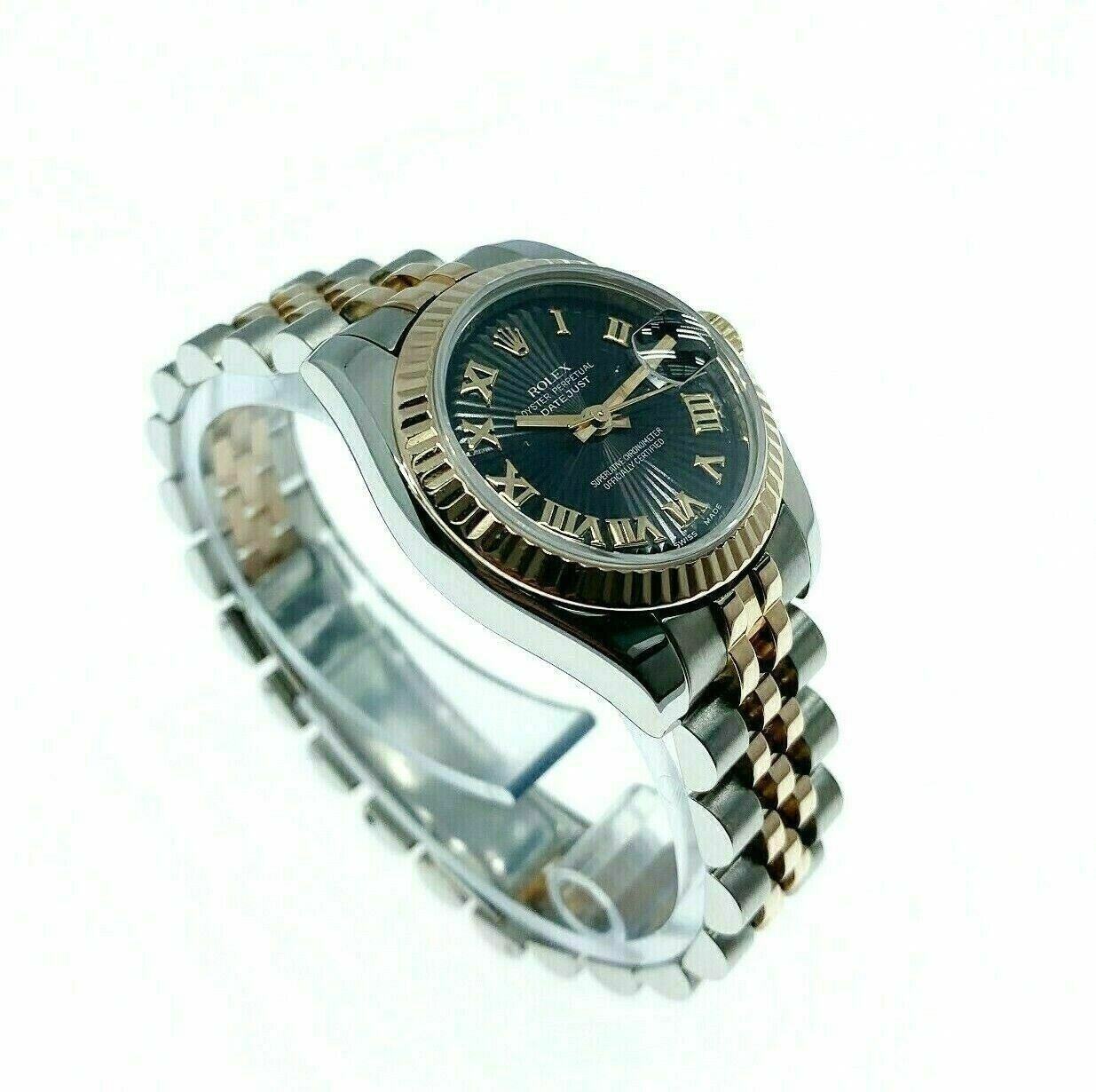 Rolex 26MM Lady Datejust 18 Karat Rose Gold Stainless Steel Watch Ref #179171