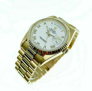 Rolex Day Date President 36mm Watch 18238 Box and Papers Double Quick Set