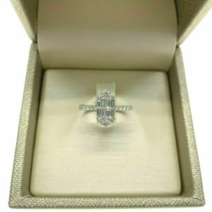 0.61 Carat Diamond Invisible Set Celebration/Anniversary Ring 18K Gold