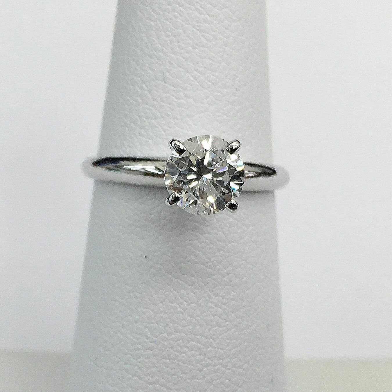 1.01 Carats Diamond Solitaire Wedding/Engagement Ring EGLUSA D-E I1 14K Gold