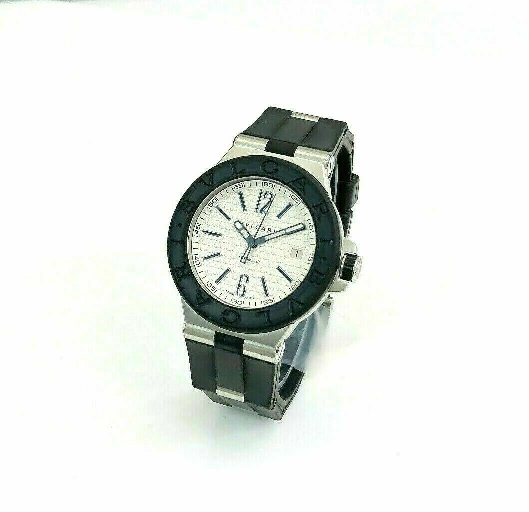 Bvlgari Diagona 40MM Automatic Watch Stainless Steel Ref # DG 40 SV