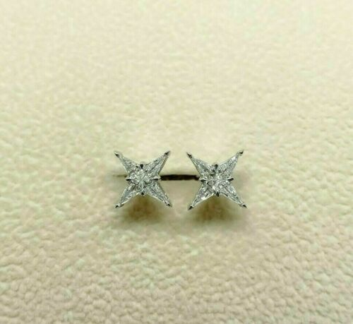 0.37 Carats t.w. Diamond Stud Earrings Made with Special Cut Kite Diamonds