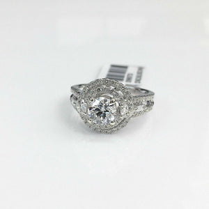 1.58Carats t.w. Diamond Wedding/Engagement Ring 0.71 Carat Center Diamond 18K