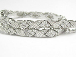 2.04 TCW Modern Round Brilliant Cut Diamond Bracelet 7.5 Inches 14k White Gold
