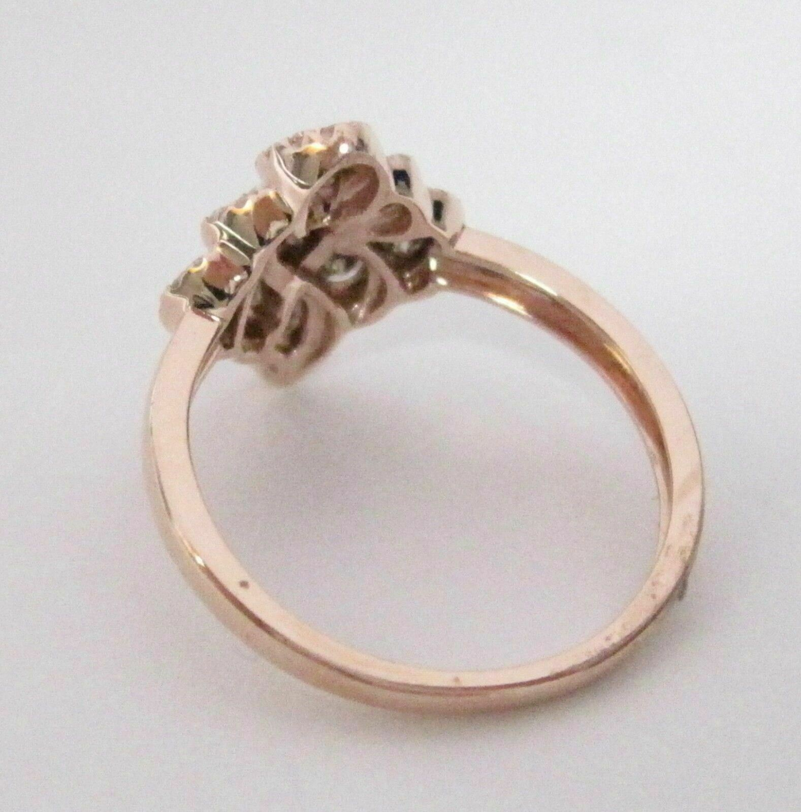 .72 TCW Natural Champagne Diamond Cocktail Ring Size 6.5 14k Rose Gold