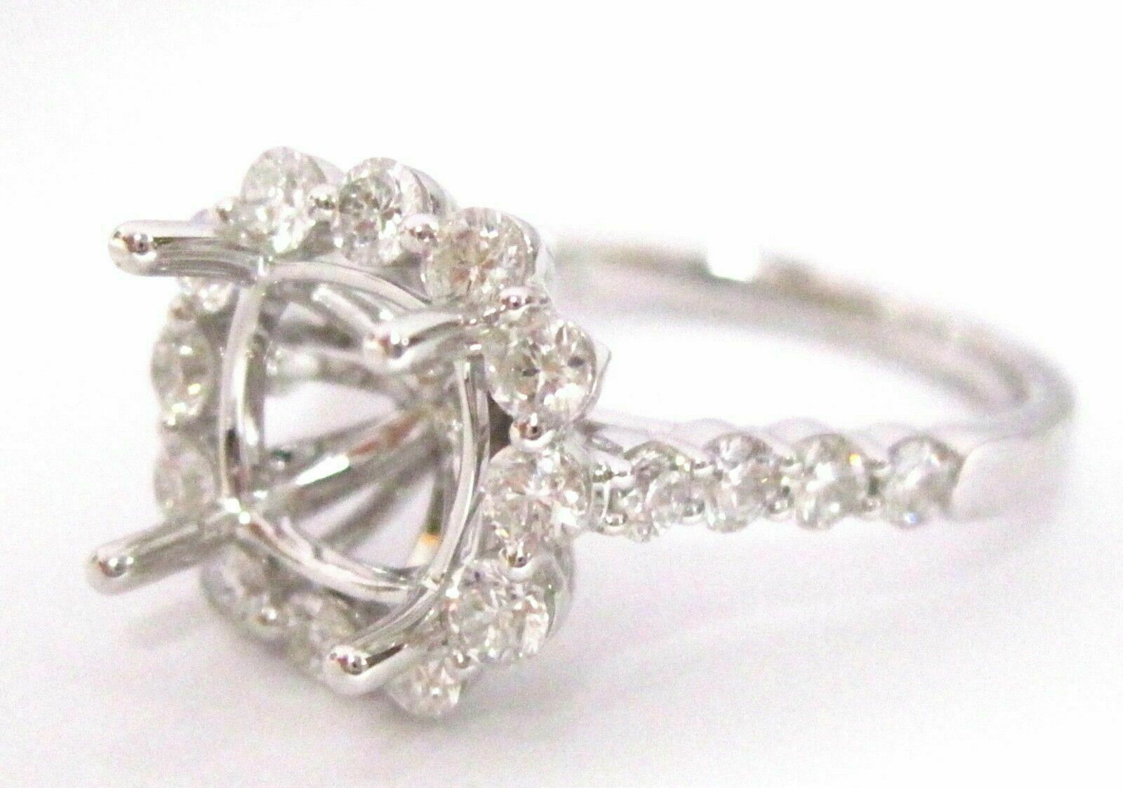 4 Prongs Semi-Mounting for Round or Cushion Diamond Ring Engagement 18k
