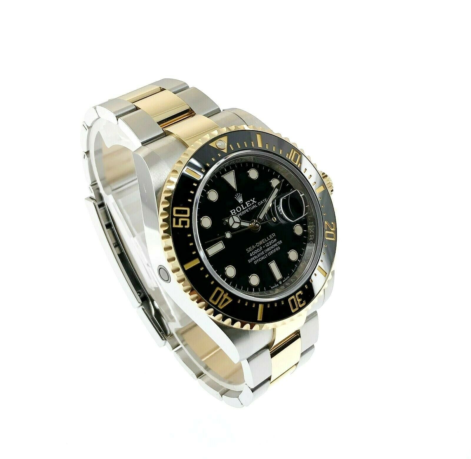 Rolex Sea Dweller 43mm Ceramic 18K Gold Stainless Watch Ref 126603 Box Card 2019
