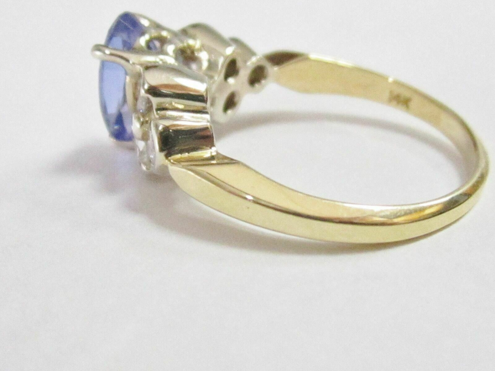 1.94 TCW Natural Pear Tanzanite & Diamond Accents Solitaire Ring Size 6.25