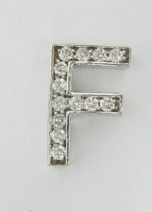 .38 TCW Round Brilliants Initial F Diamond Pendant 14kt White Gold