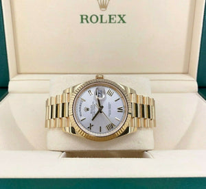 Rolex 40 mm Day Date II President 18K Yellow Gold Watch Box and Card Ref 228238