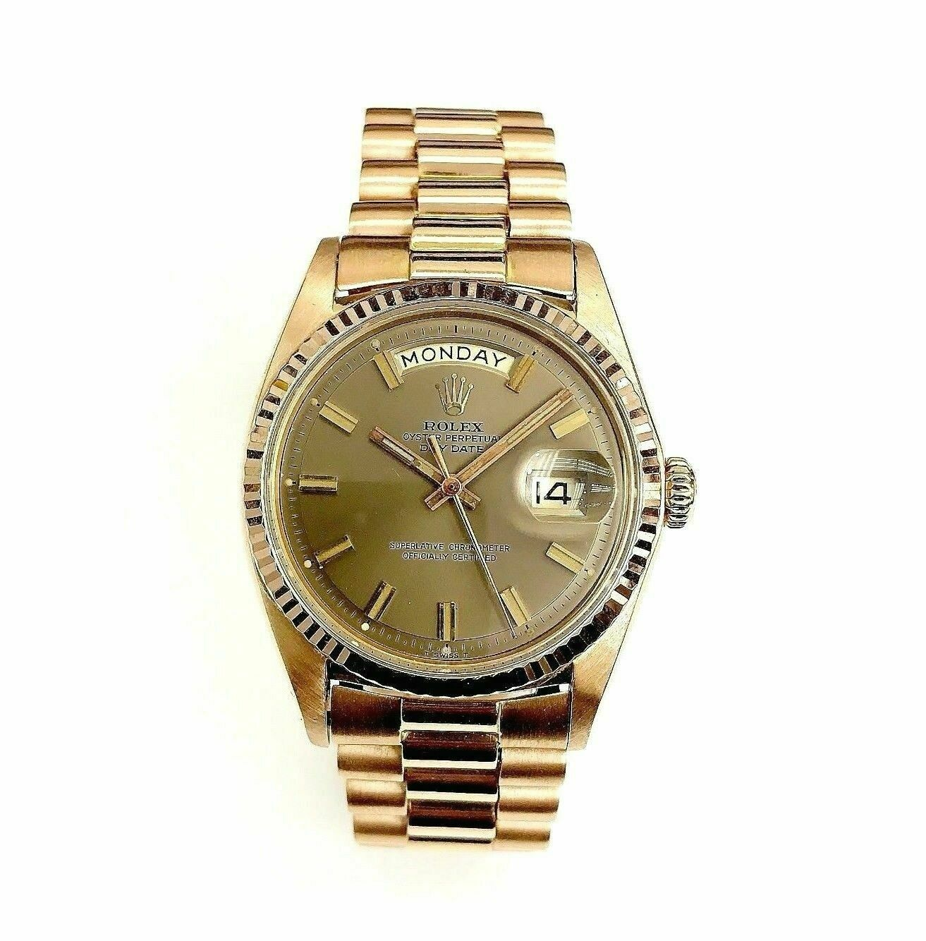 Rare 18Karat Rose Gold Rolex Day Date President 36MM Ref # 1803 Circa 1969 w Box