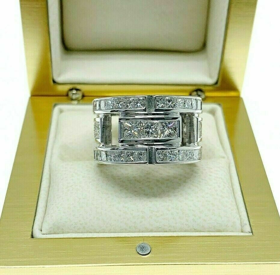 6.00 Carats t.w. Diamond Eternity Anniversary Ring 14K Gold G Color Diamonds
