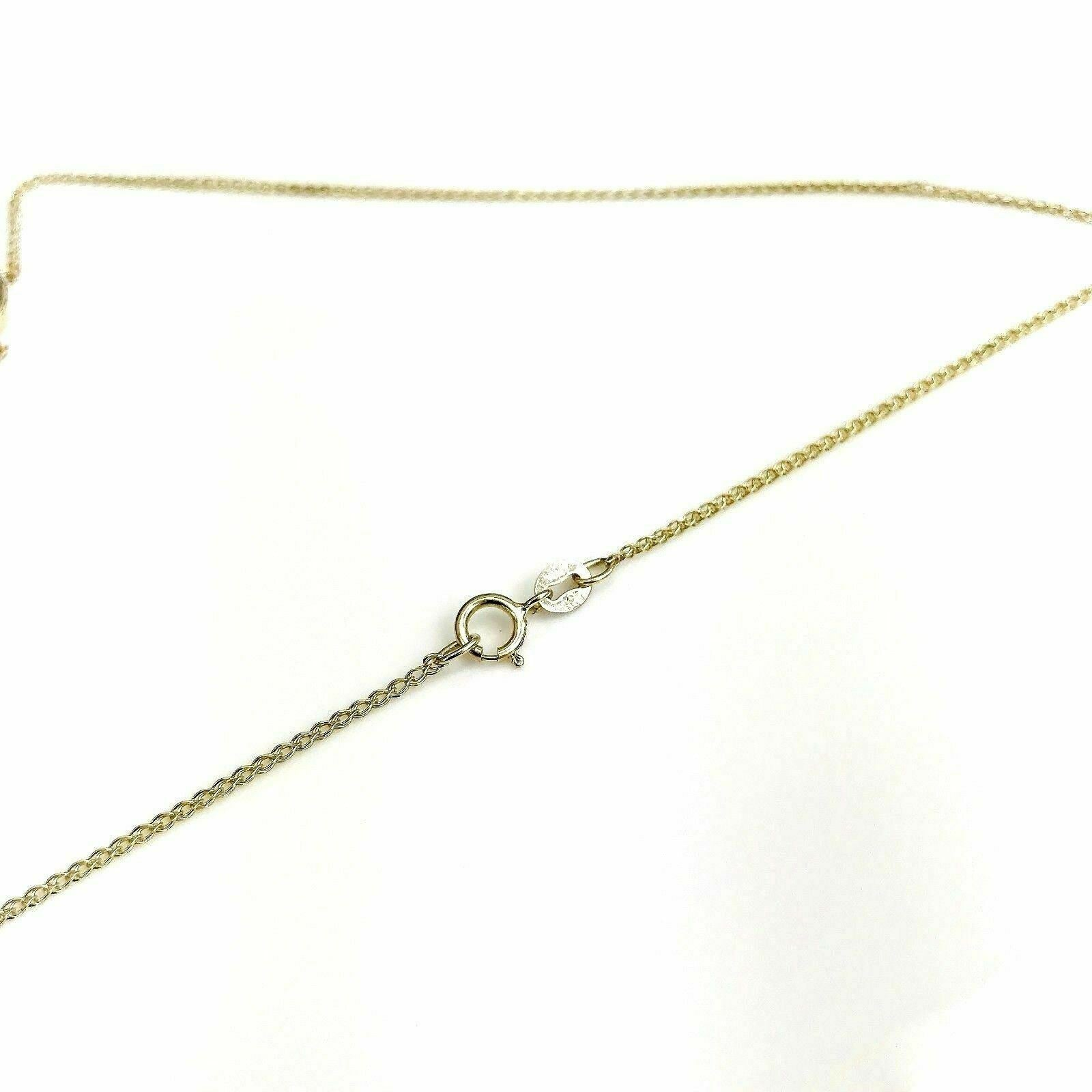 0.55 Carat 14K Marquise Diamond Solitaire Pendant with 14K Yellow Gold Chain