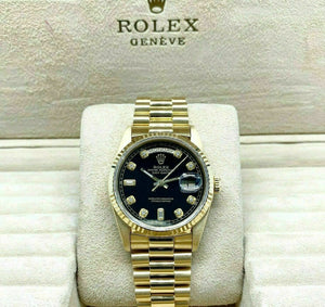 Rolex Day Date President 18K Yellow Gold 36mm Watch 18238 Double Quick Set 1990