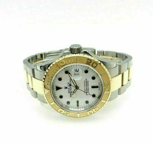 Rolex 40MM Mens Yacht-Master 18K Gold and Steel Watch Ref # 16623 M Serial