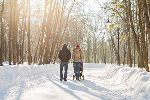 Winter walk with baby