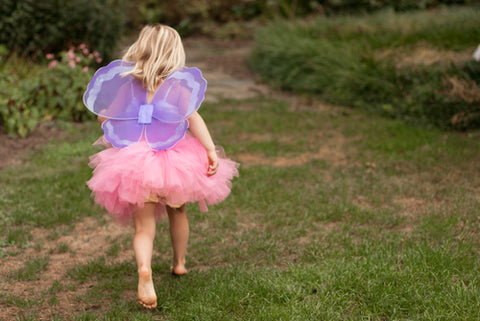 Child in fairy wings