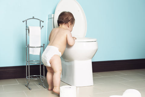 baby and toilet