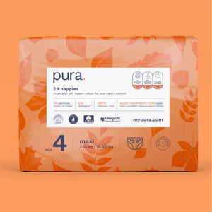 Pura High Performance Eco Nappies Subscription Size 1-6 (2-15kg+)