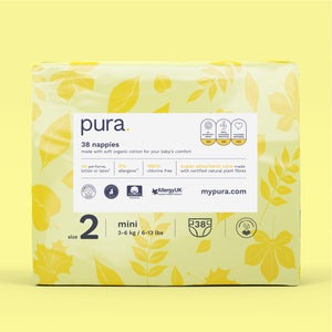 Pura High Performance Eco Nappies Size 2 (3-6kg)