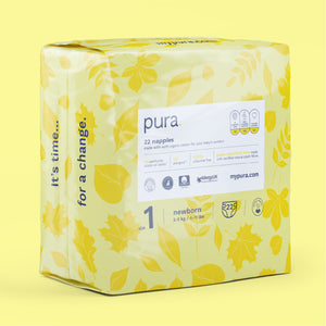 Pura Eco Nappies Size 1 (2-5kg)