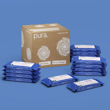 Load image into Gallery viewer, Pura 100% Plastic-Free, Biodegradable Flushable Toilet Tissue Wipes (14 x 40 pack)