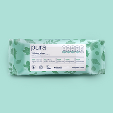 Load image into Gallery viewer, Pura 100% Plastic-Free Biodegradable Wipes Subscription