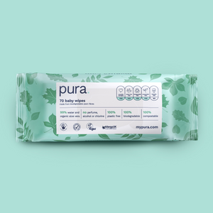 Pura 100% Plastic-Free Biodegradable Wipes Subscription