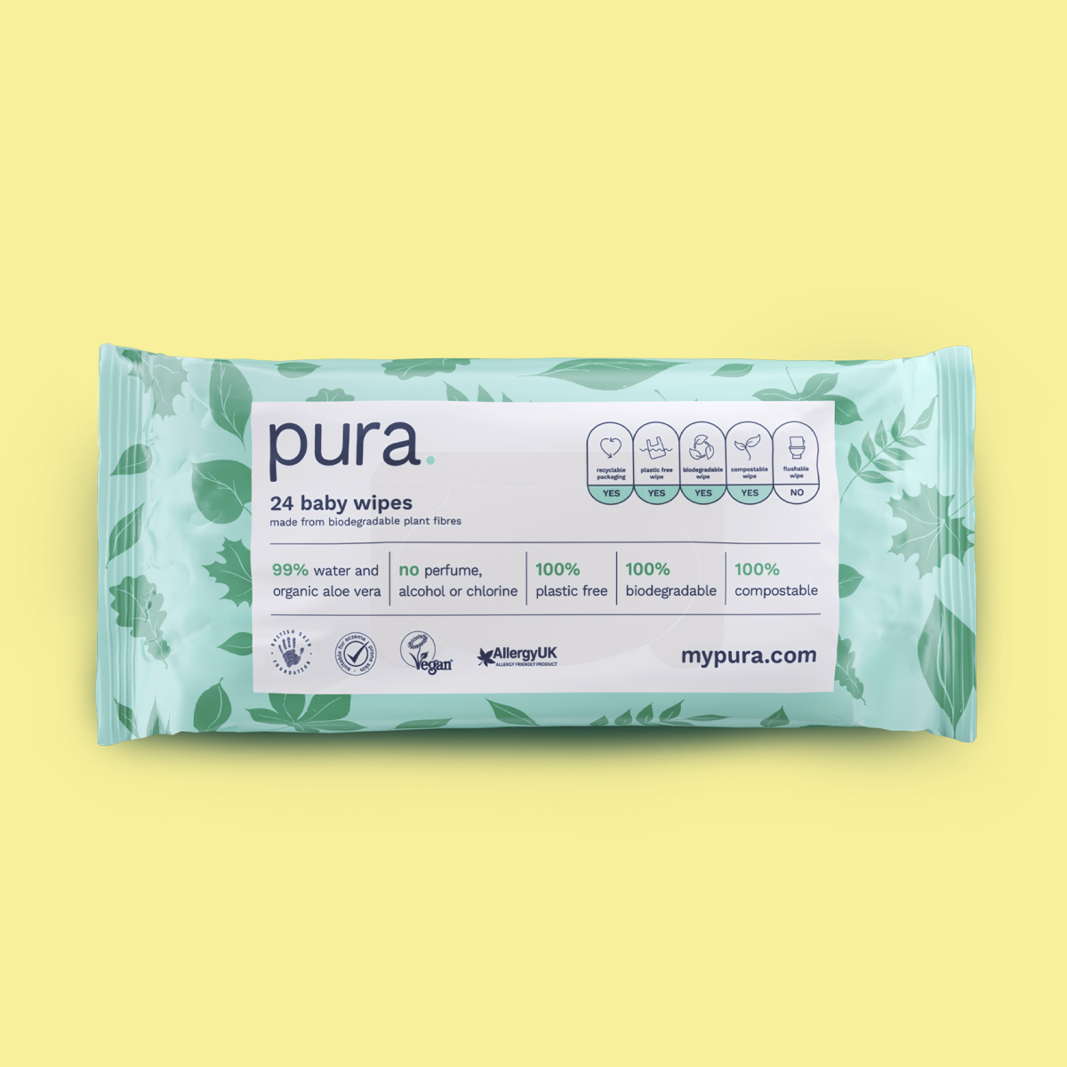 Try Pura 24 Pack Baby Wipes & 2 Potato Bags for Free (99p Delivery)