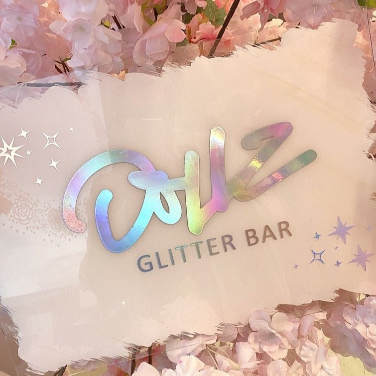 Business Acrylic Sign - Dollz Confetti